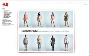 H&M, rubrique Fashion Studio. Capture d'écran