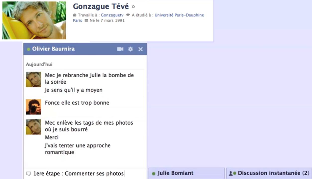 Exemple conversation site de rencontre